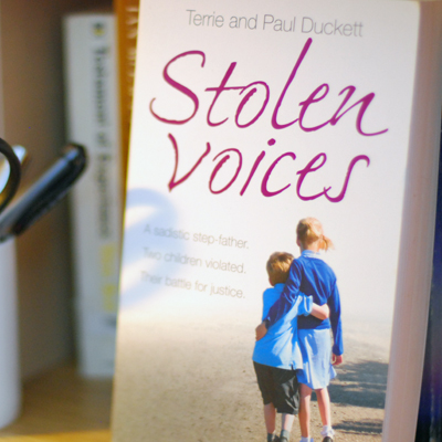 Stolen Voices.  A sadistic step-father and two children's battle for justice