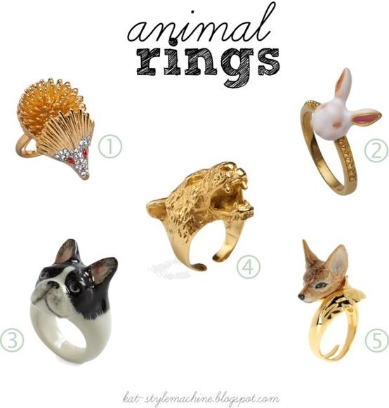 fancy animal rings