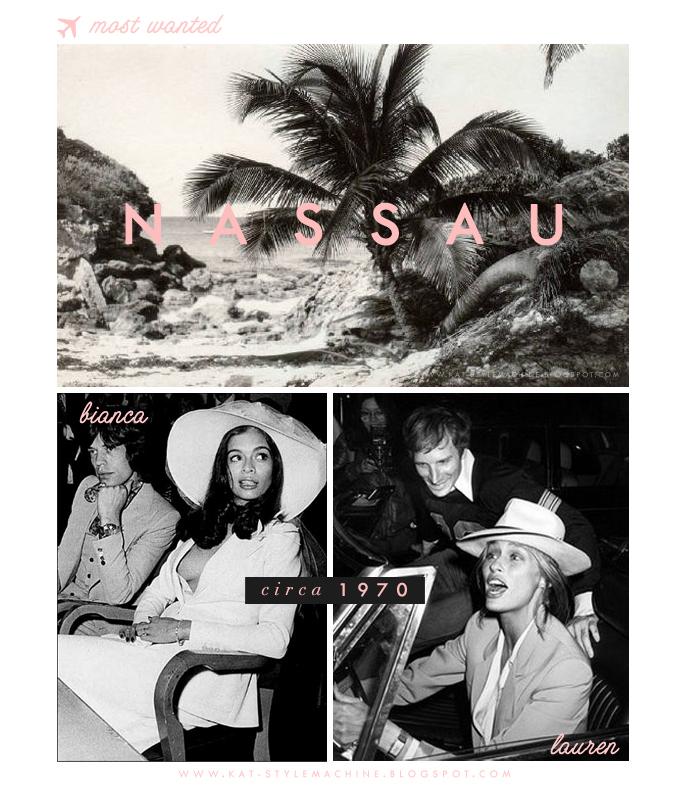 Vintage Nassau Style a la Bianca Jagger & Lauren Hutton