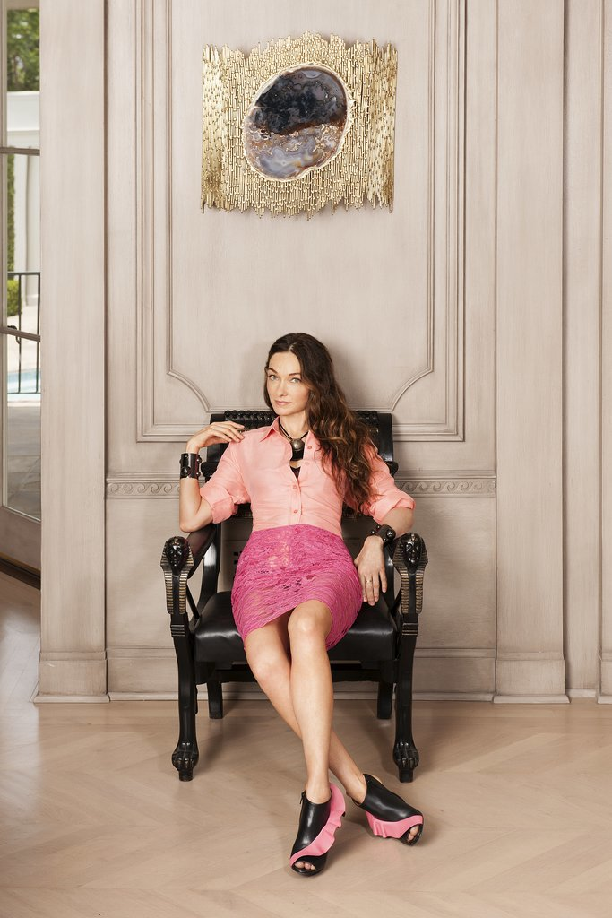 Interior designer and style icon Kelly Wearstler,  photo via