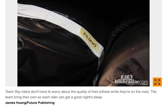 """The pillows"", as featured on Bike Radar"
