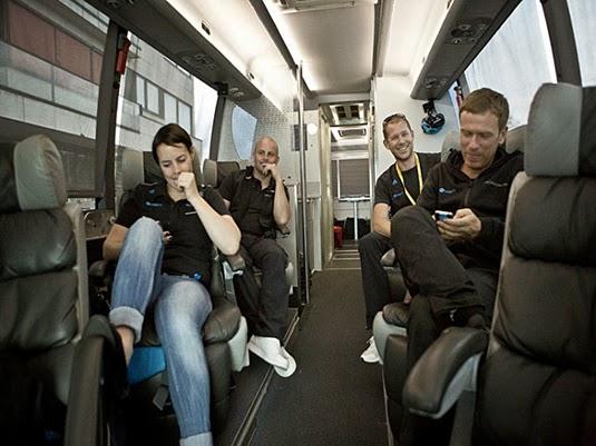 Fran Millar, Martin Ayers, Dan Buillemette, and Tim Kerrison (Photo: Scott Mitchell/Team Sky)