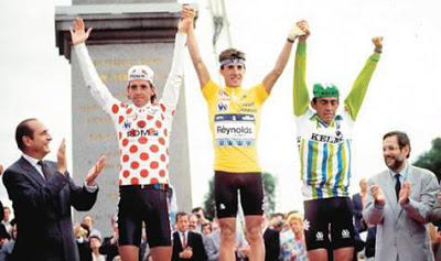 Parra podiums at the Tour