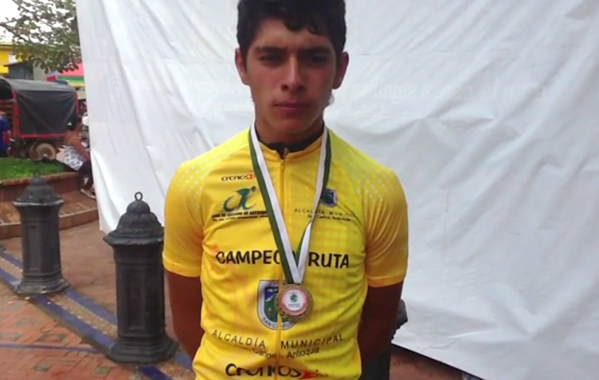 A young Gaviria becomes regional road champion (Photo: Nuestro Ciclismo)