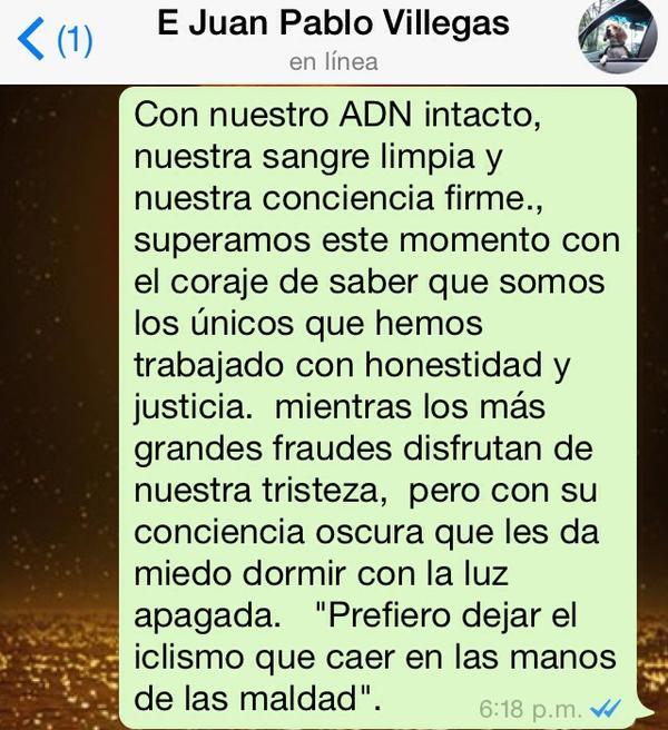 Mensaje escrito por Villegas en Diciembre. Imagen capturada por La Ruta del Escarabajo