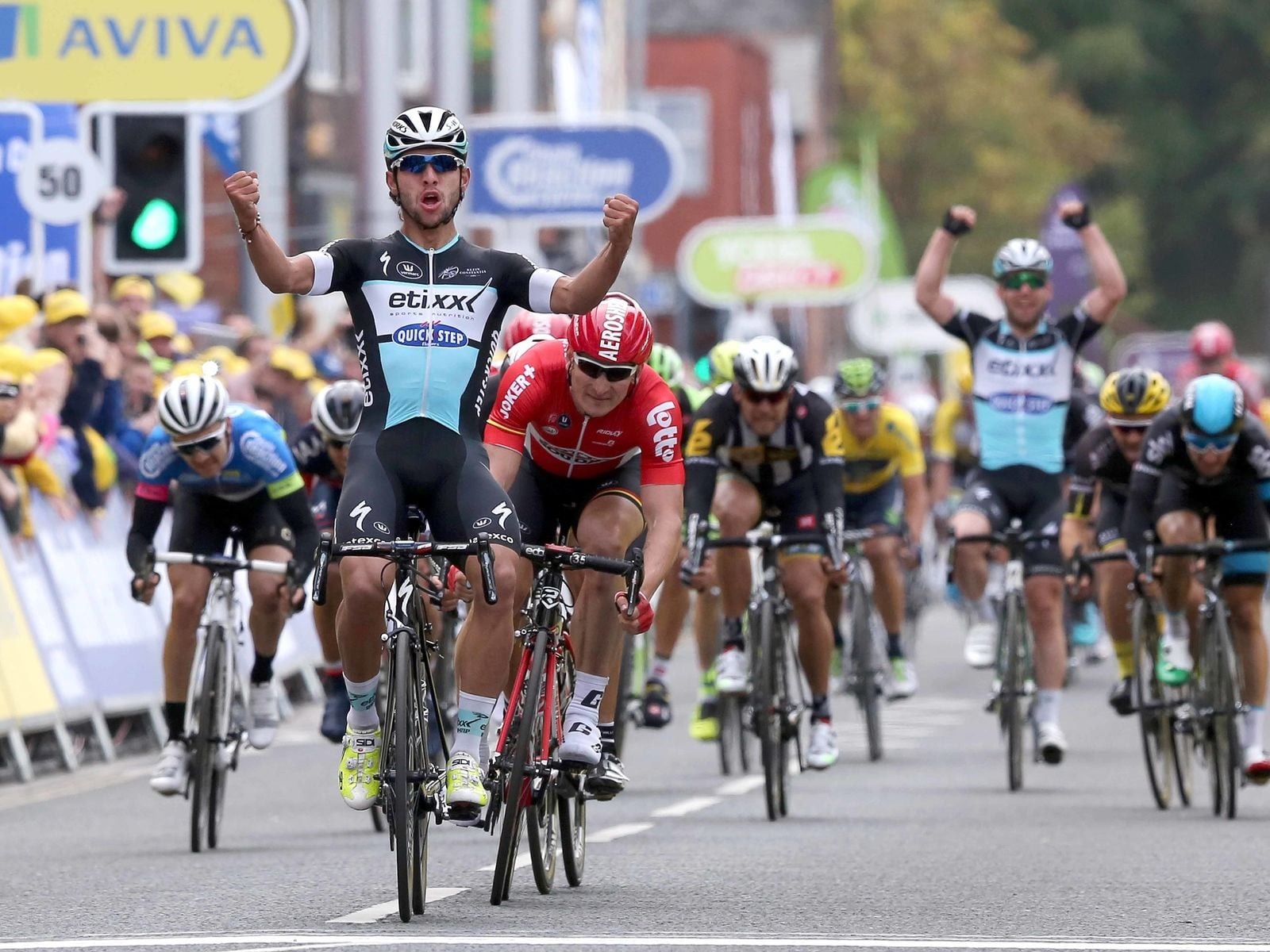 Tour of Britain, 2015, racing as a  stagiaire  . (Photo: Etixx-Quick Step)