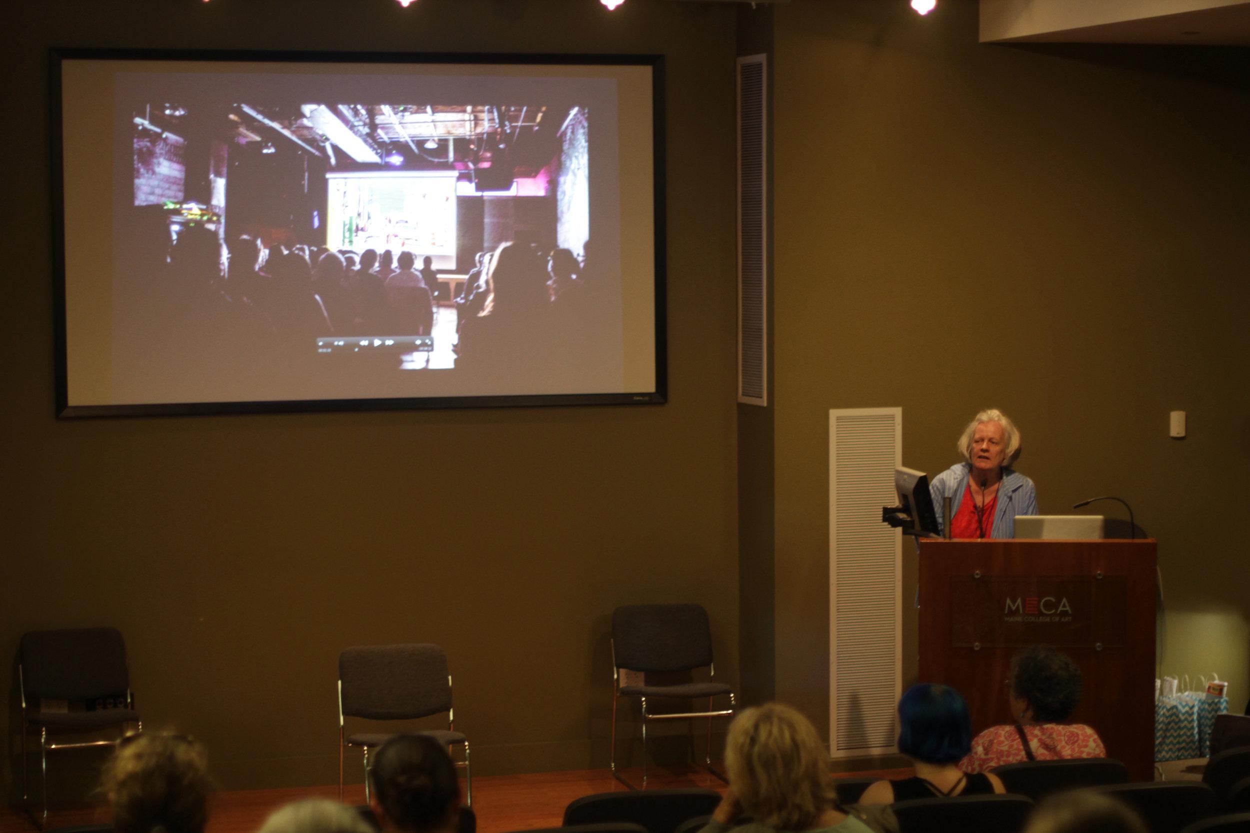 Ariel Dougherty, director, speaks at Women Make Movies Make History, July 2016.