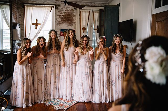 Summer vacation has officially begun and I'm as excited as all these bridesmaids seeing the bride for the first time!