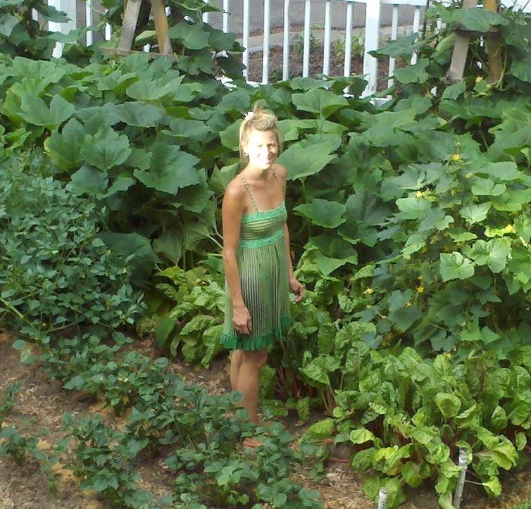 me in garden