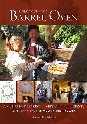 Max & Eva Edelson wrote this simple book which has basic plans and gives an outline for how to build a barrel oven.   CLICK HERE  to order yours.