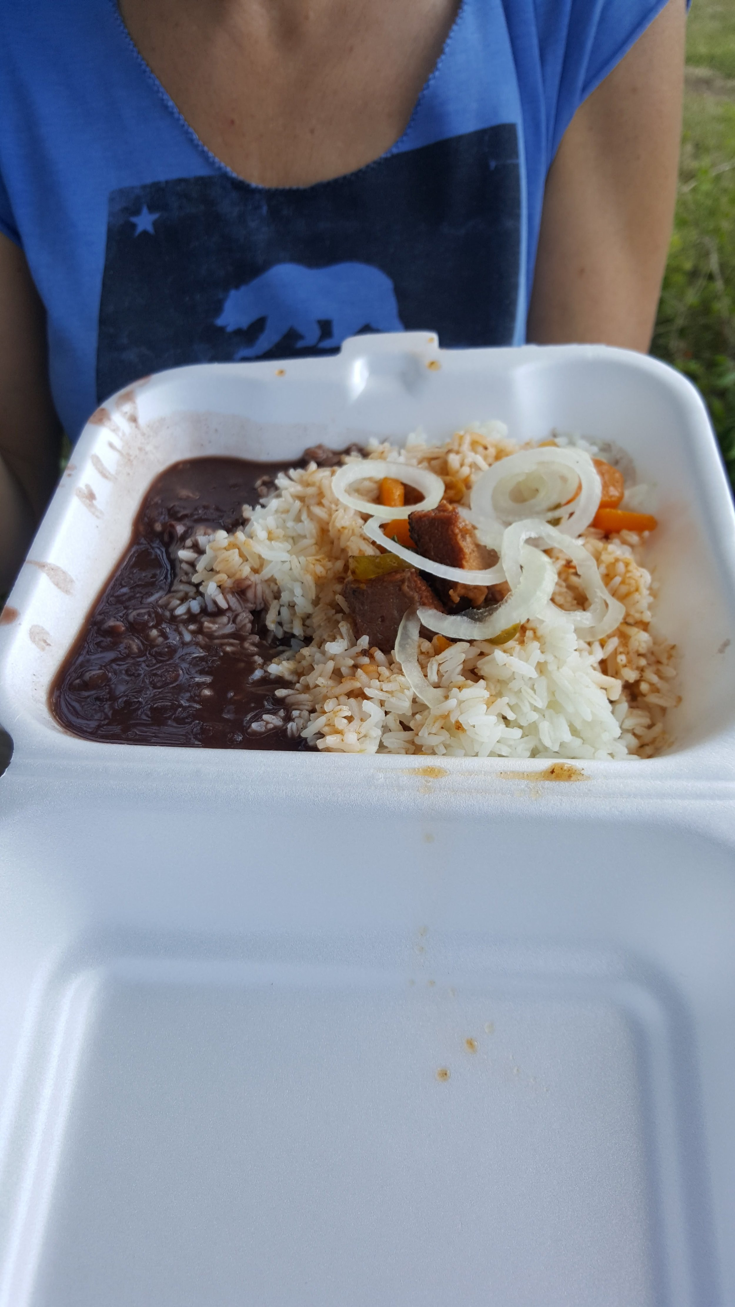 Haitian beans and rice.