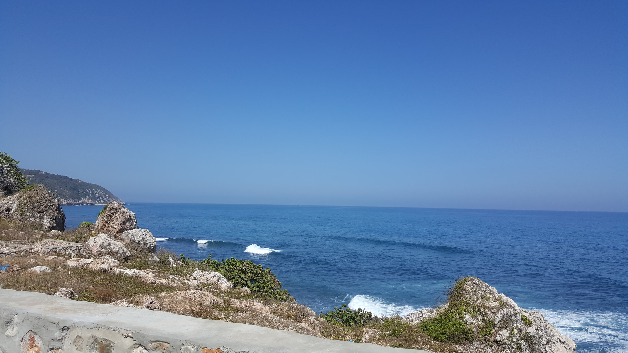 View of the ocean on the other side