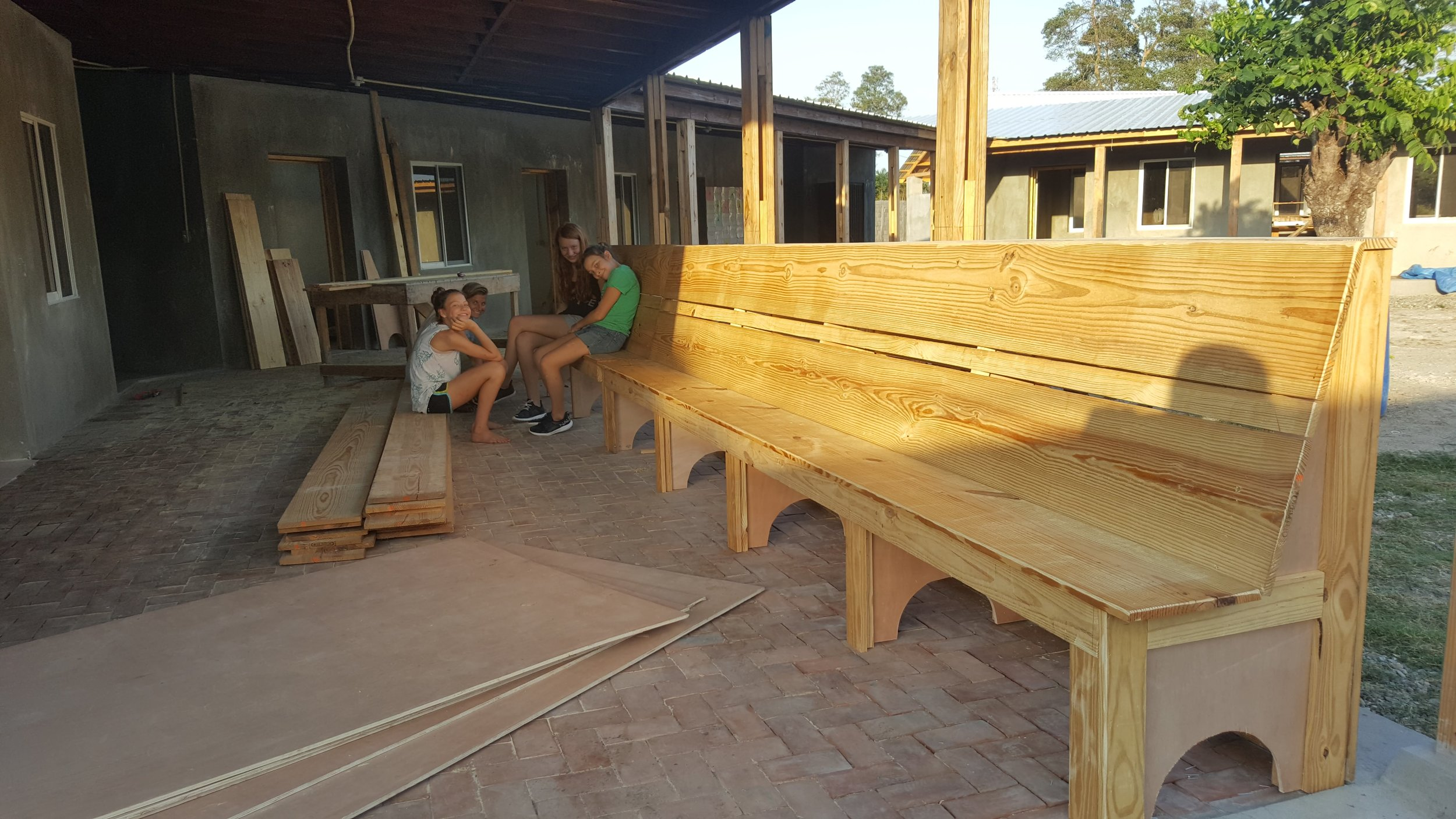 Some beautiful benches that Jeremiah built
