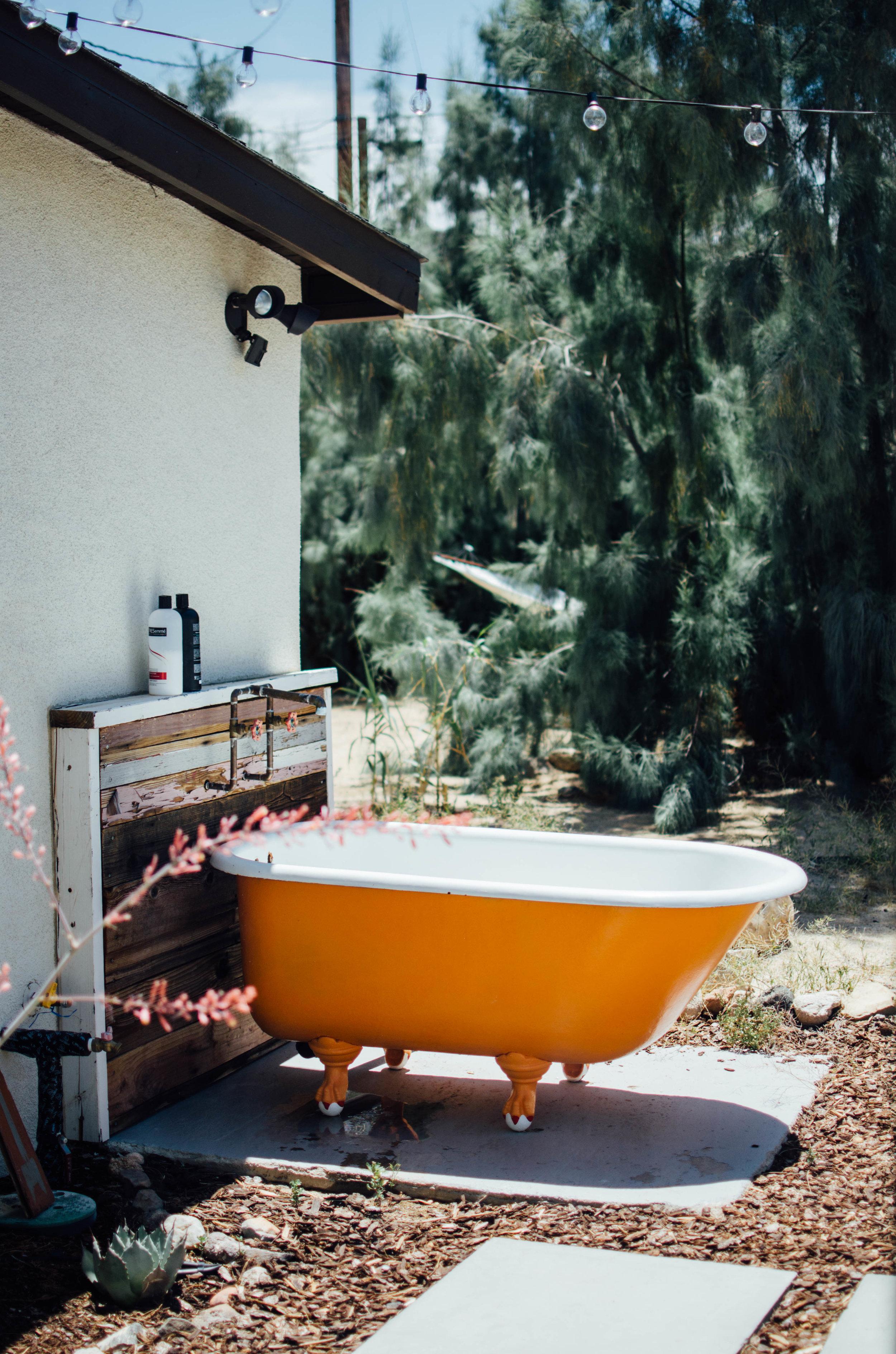 cabin cabin cabin joshua tree bathtub airbnb