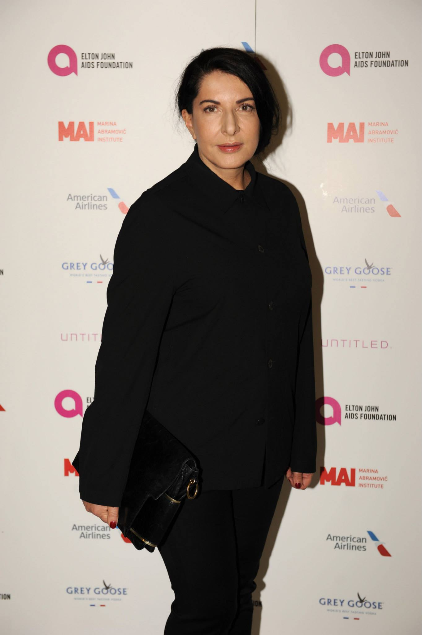 Marina Abramovic at the VIP Opening Party for UNTITLED. art fair 2014, co-hosted by the Elton John AIDS Foundation