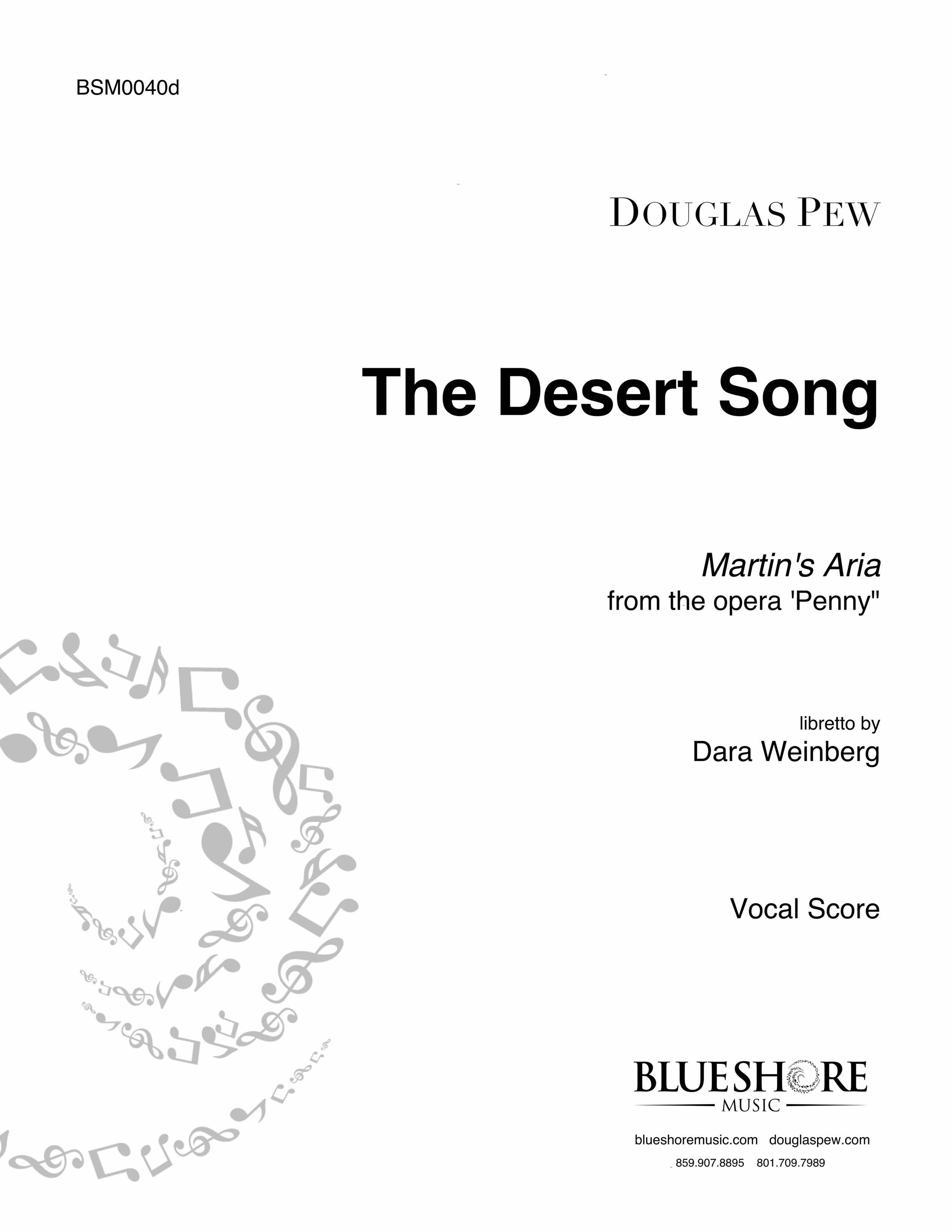 The Desert Song  - Tenor & Piano (from the opera 'PENNY') - *COMING SOON*