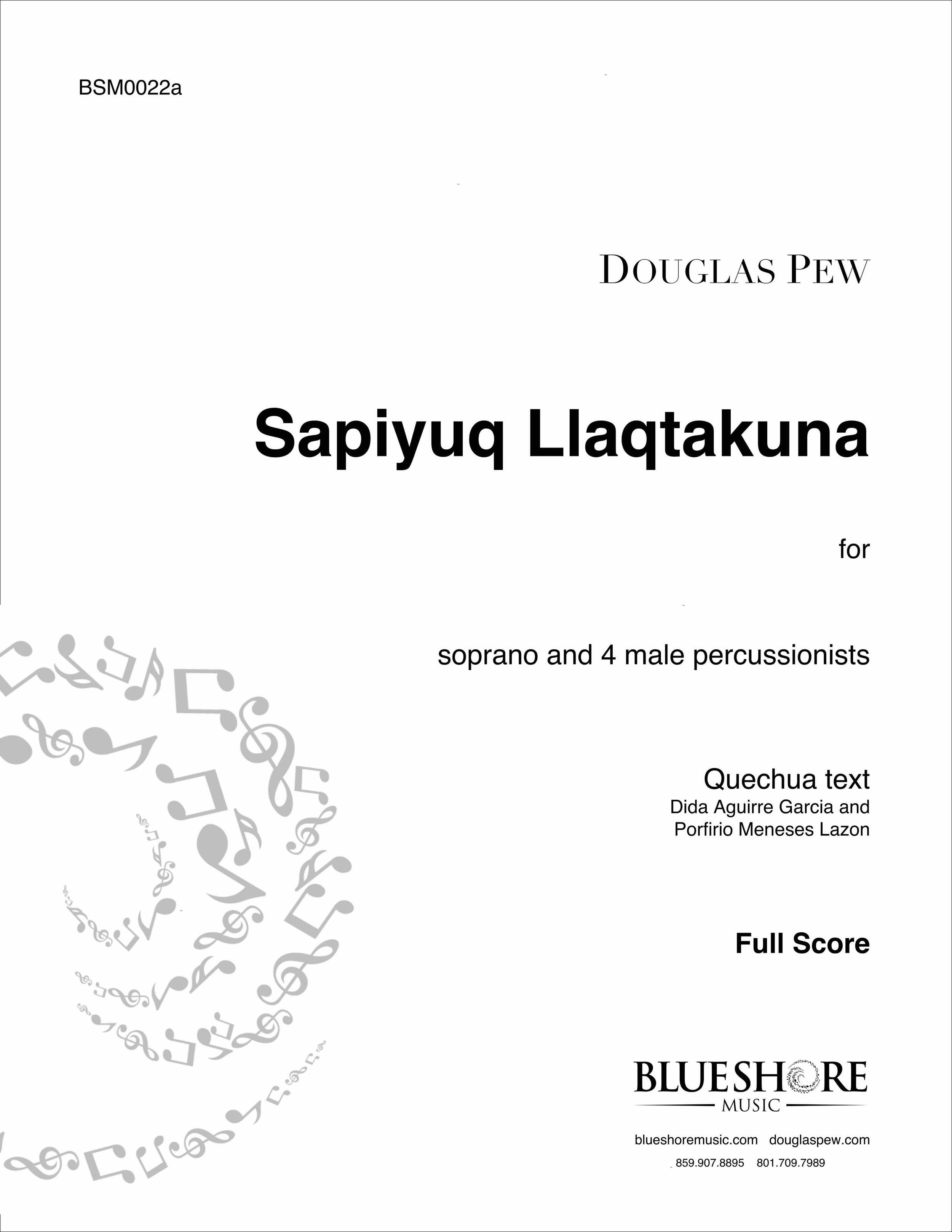 Sapiyuq Llaqtakuna, for Soprano and 4 Male Percussionists