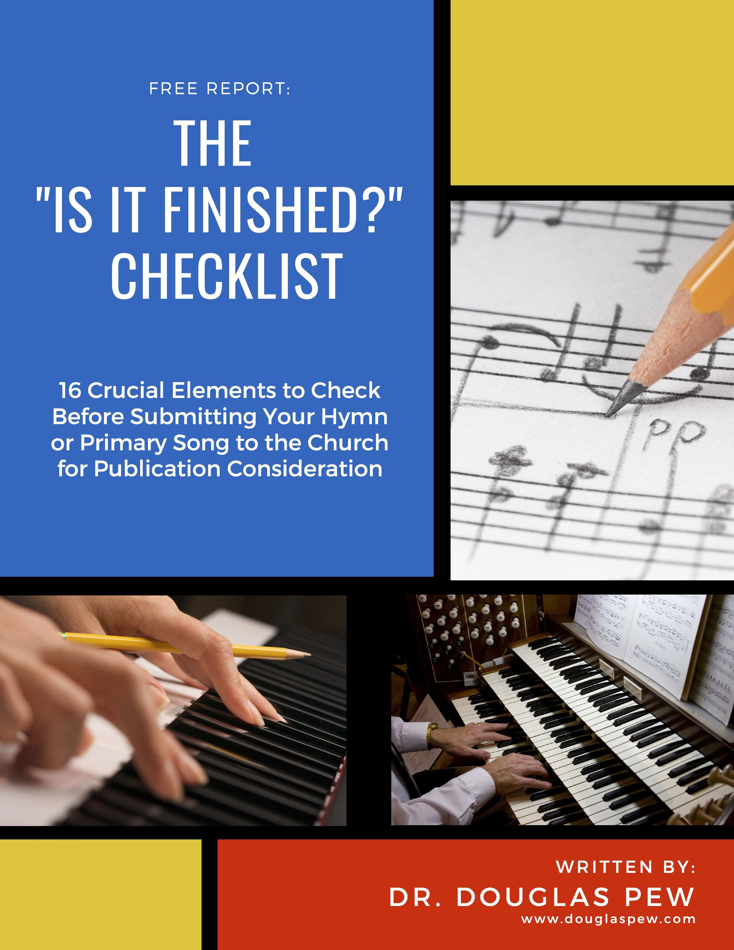 "The ""Is It Finished"" Checklist"