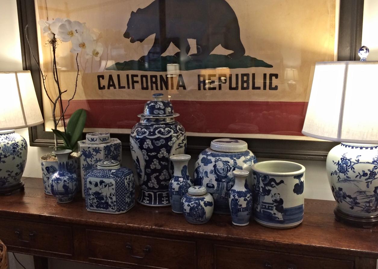 Blue & White Jars and Vases