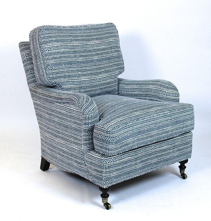 Cambridge chair with custom blue and white fabric