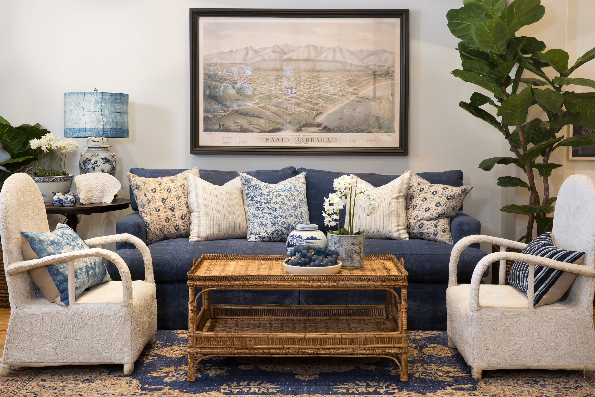 Coastal room featuring the Summerland Sofa from Rooms & Gardens