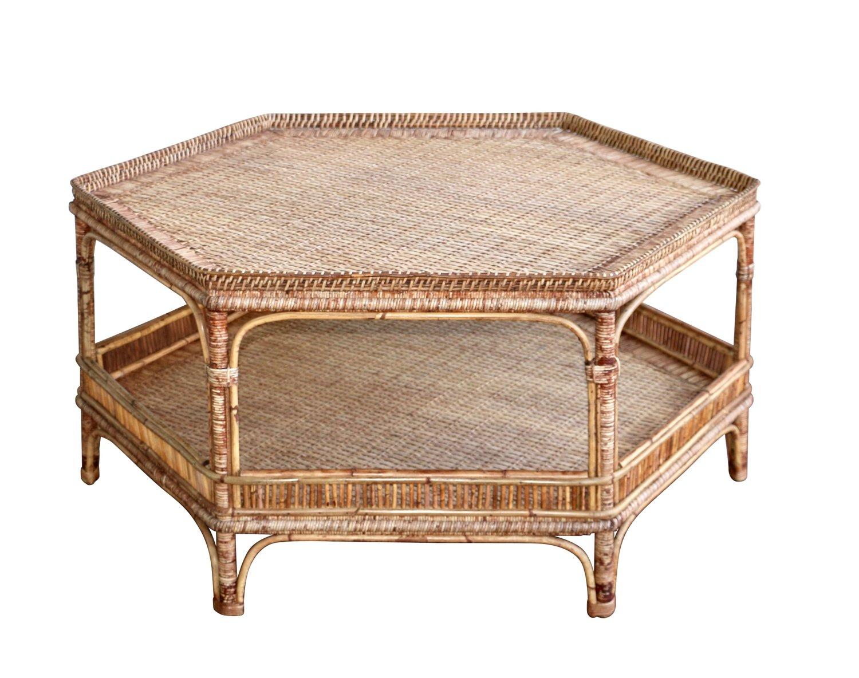 Wicker Wood Coffee Table Design Ideas