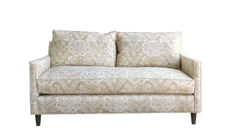 Mullholland Sofa with Custom Tan & White Fabric