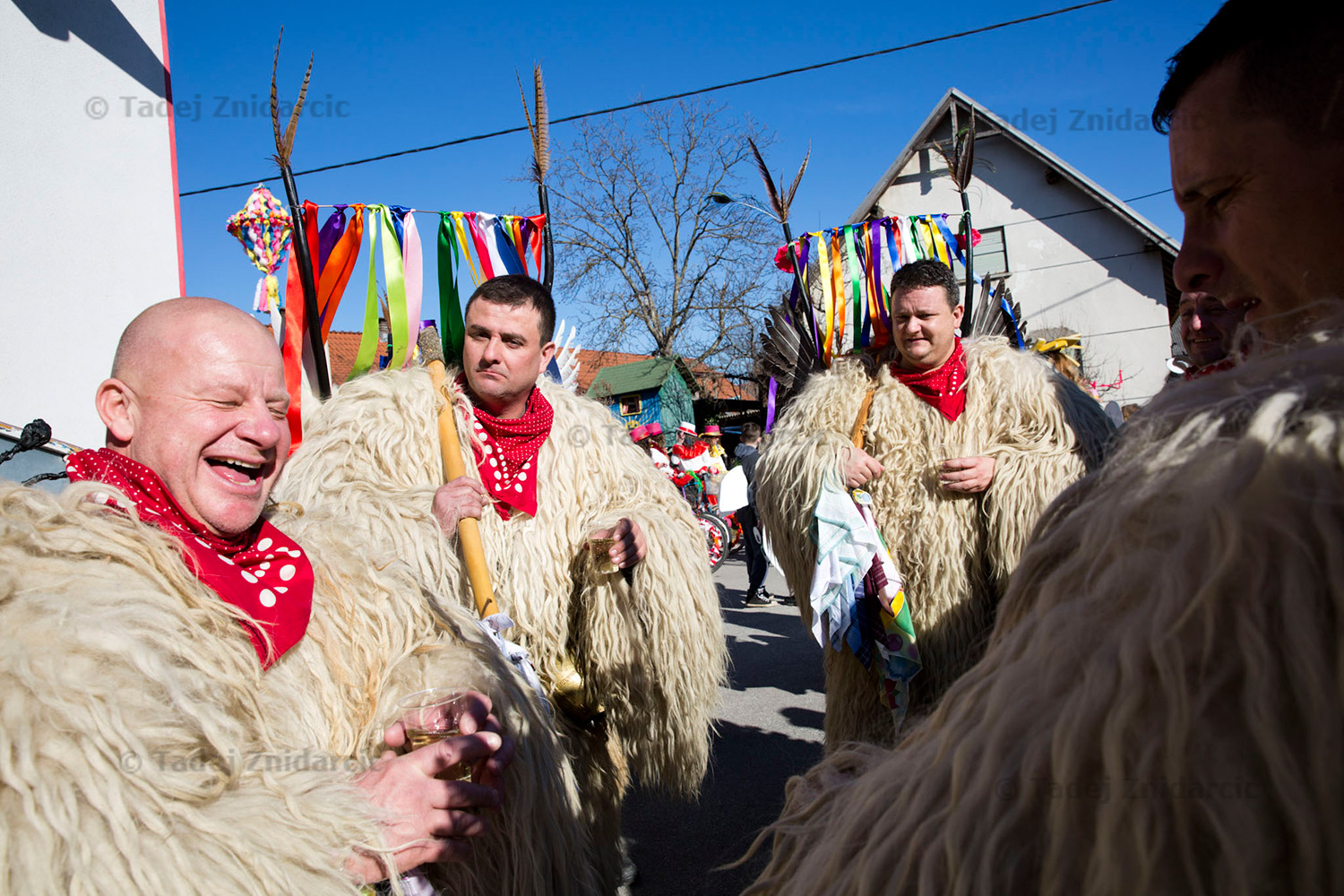 Few days later Fasenk, a traditional celebration in Zabovci, was held. The mood was festive from the get-go.