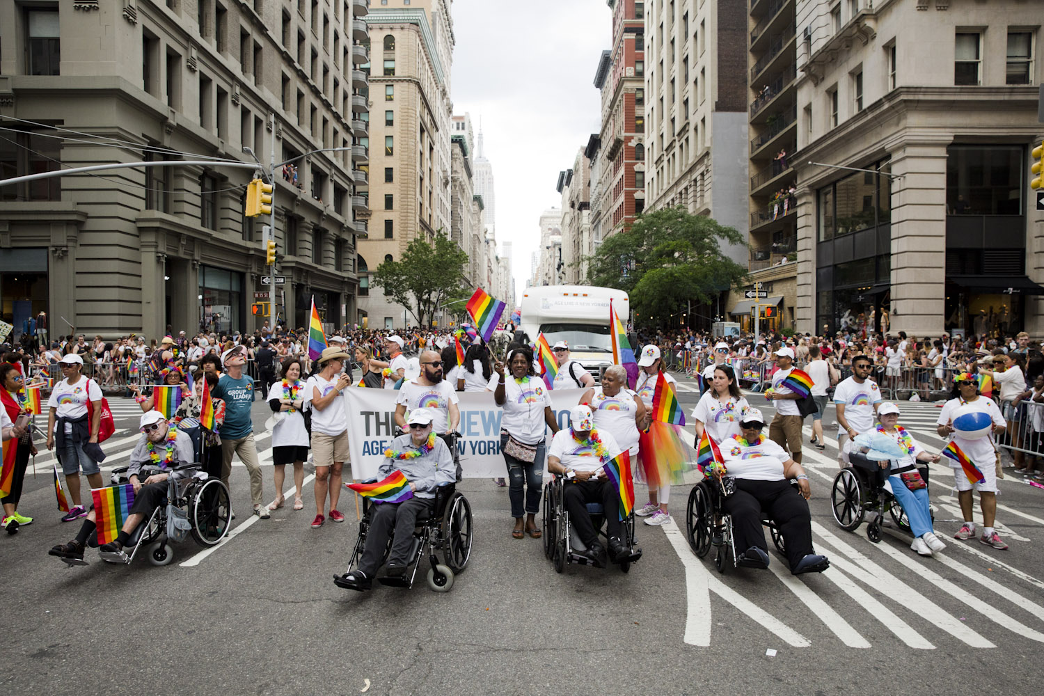 The New Jewish Home at the NYC Pride March 2017.