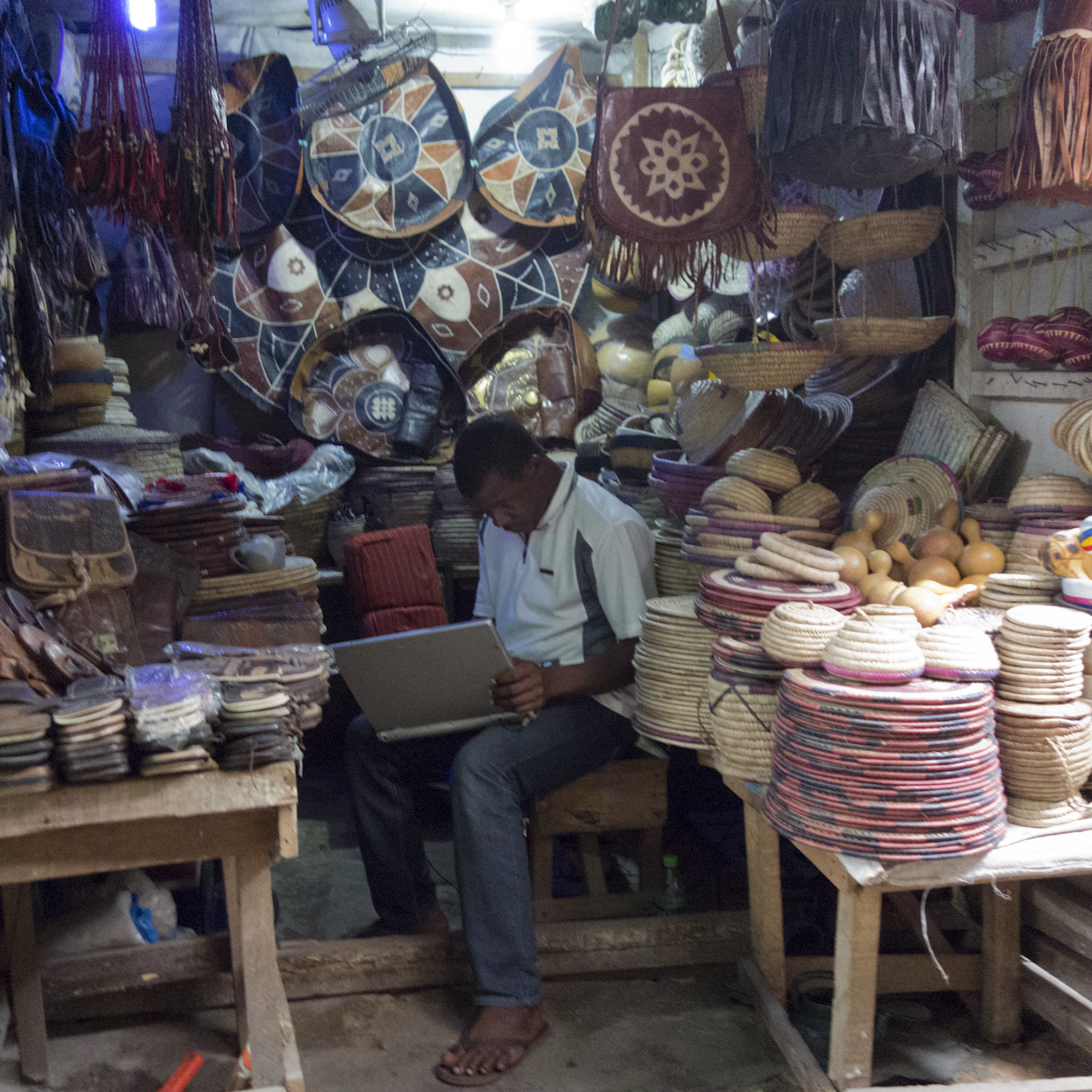 Shopkeeper at Yaba Market