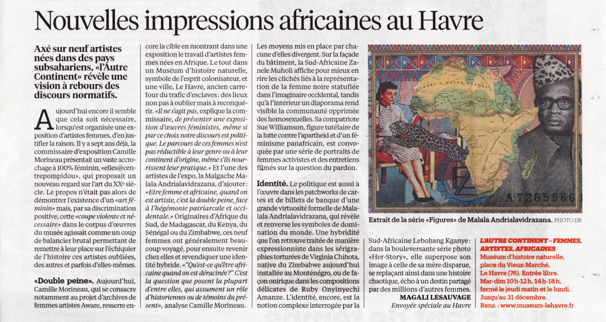 Nouvelles impressions africaines au Havre