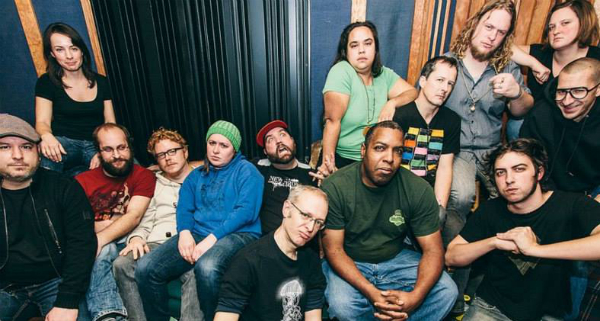 Joe Simpson (fourth from the right) and Monica Barroga (seventh from the right) and their band Eldridge Gravy & The Court Supreme is headlining the  Tribes benefit show  at Nectar Lounge on June 6.