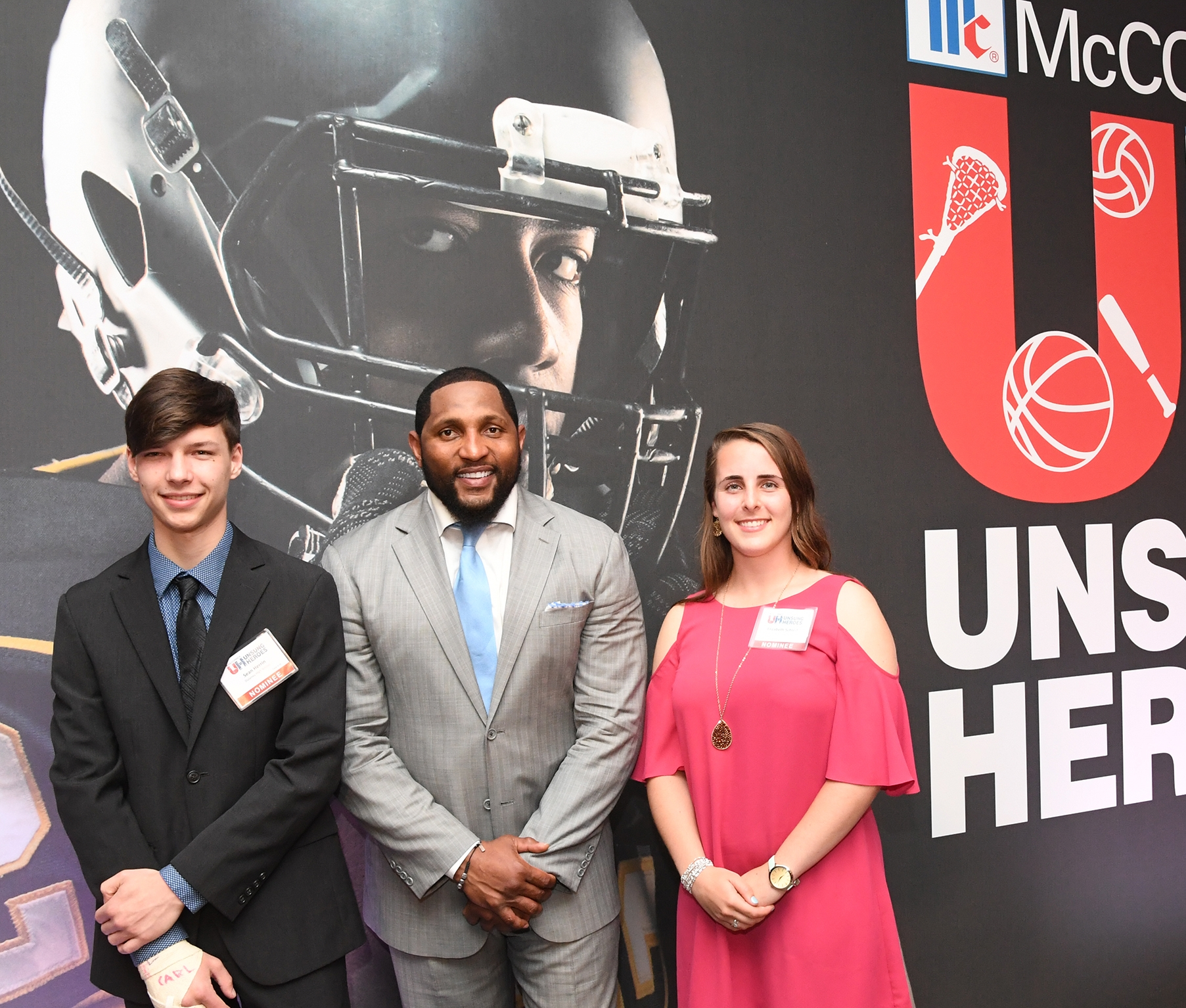 Sean Herrin (left) pictured at the Unsung Heroes 2017 award ceremony.
