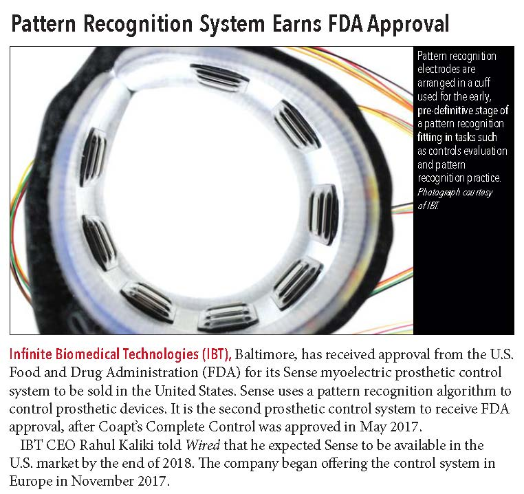 IBT in O&P Edge announces approval from the FDA for the Sense system.