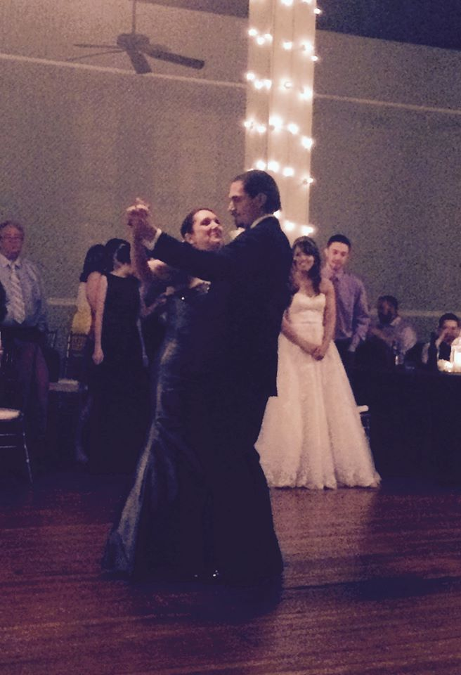 Dancing with my son at his wedding