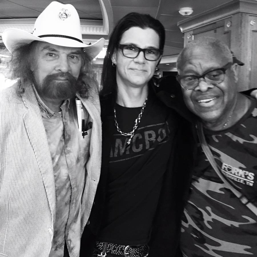 Southern Rock Drum Royalty... On the left Artemus Pyle, on the right Jaimoe...