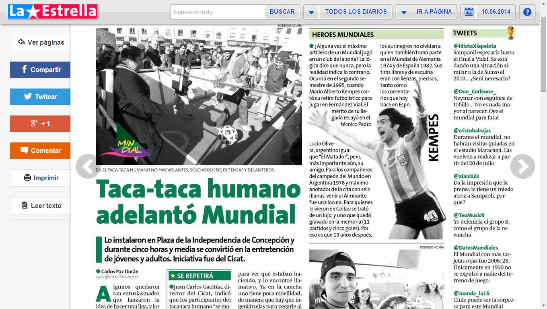 La Estrella de Concepción 10.06.2014.