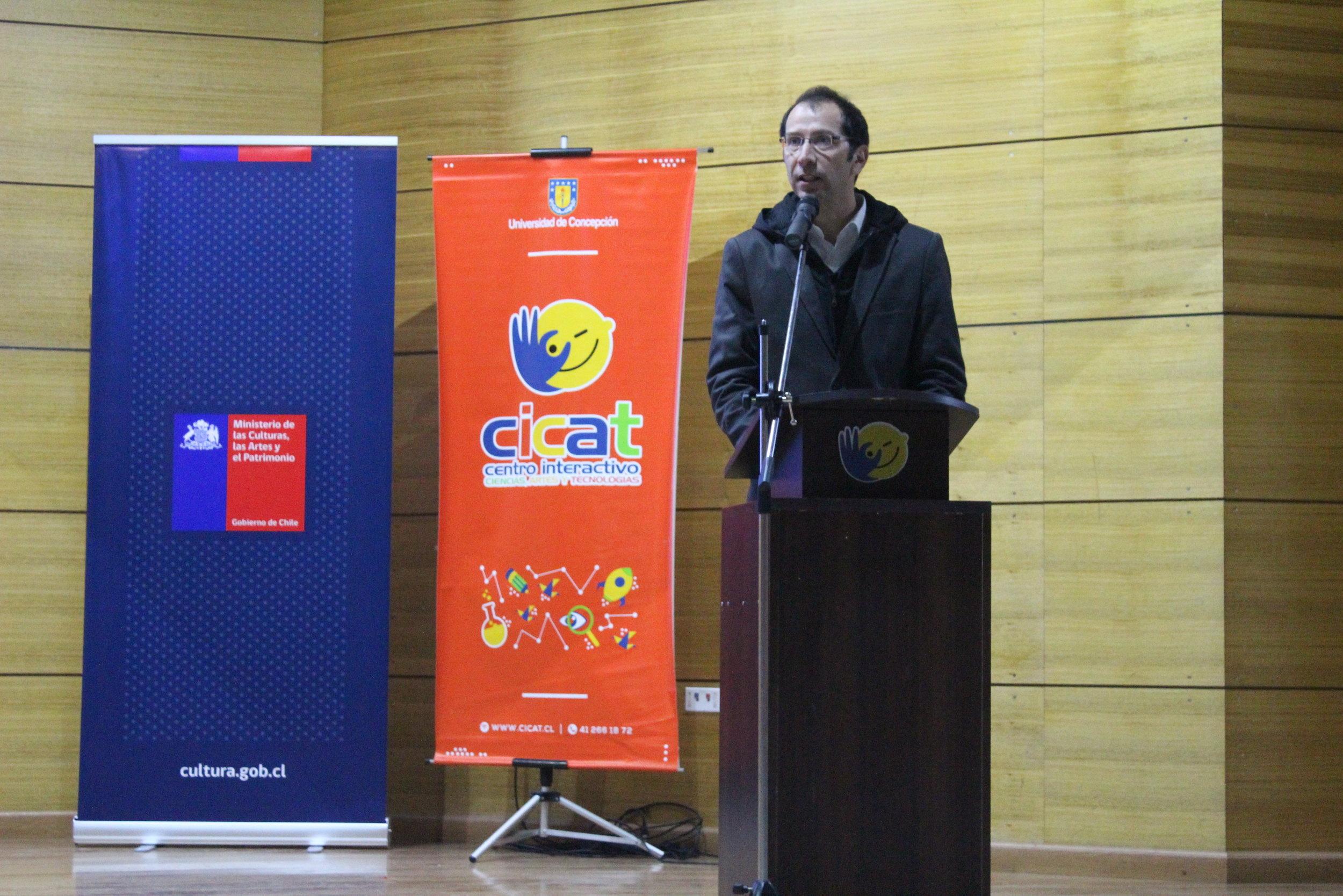Juan Carlos Gacitúa, Director Cicat, da la bienvenida