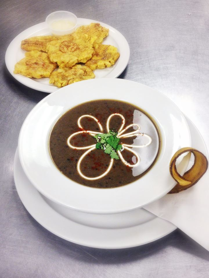 Black bean soup & Tostones