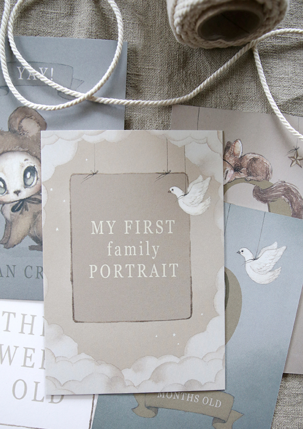Capture all the special moments of your little one's in their first year. This set of  Mrs Mighetto Baby's First Year Cards  include 24 cards ranging from 'Hello World' to 'Today I smiled for the first time' and 'Three weeks old'. A gorgeous gift for new parents.  Released in our retailers stores May 10th.