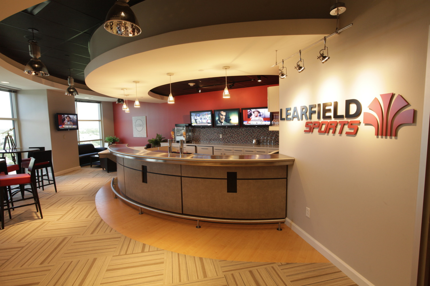 Learfield Sports  |  Plano, TX  |   Photo: Jason Janik    General Contractor:  Abstract Construction