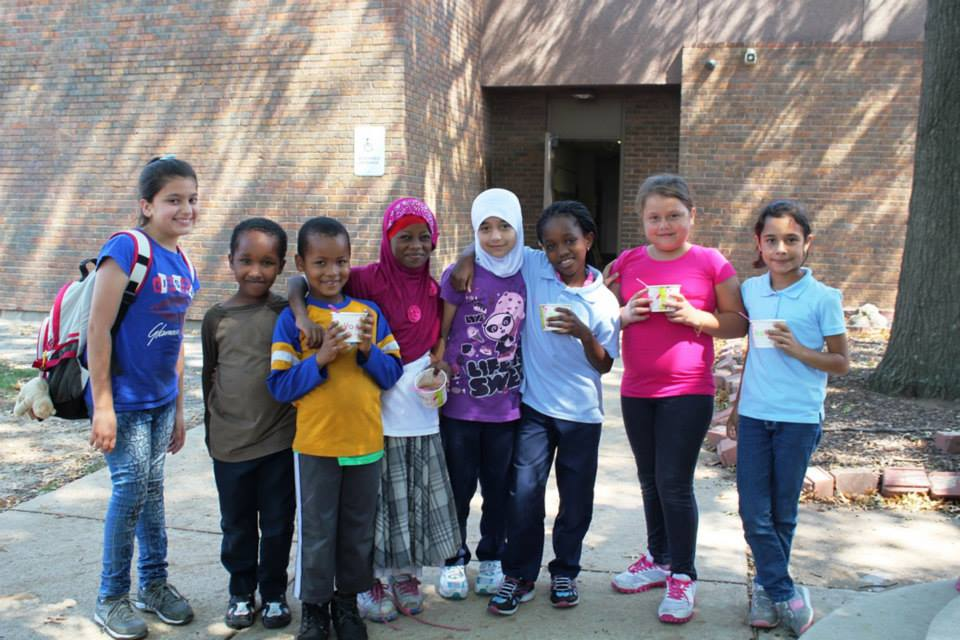 Students at the  Nahed Chapman New American Academy located on Grand Avenue. This school is home to the highest population of refugee students in St. Louis.