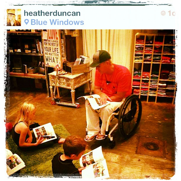 Reading to students at my book signing event