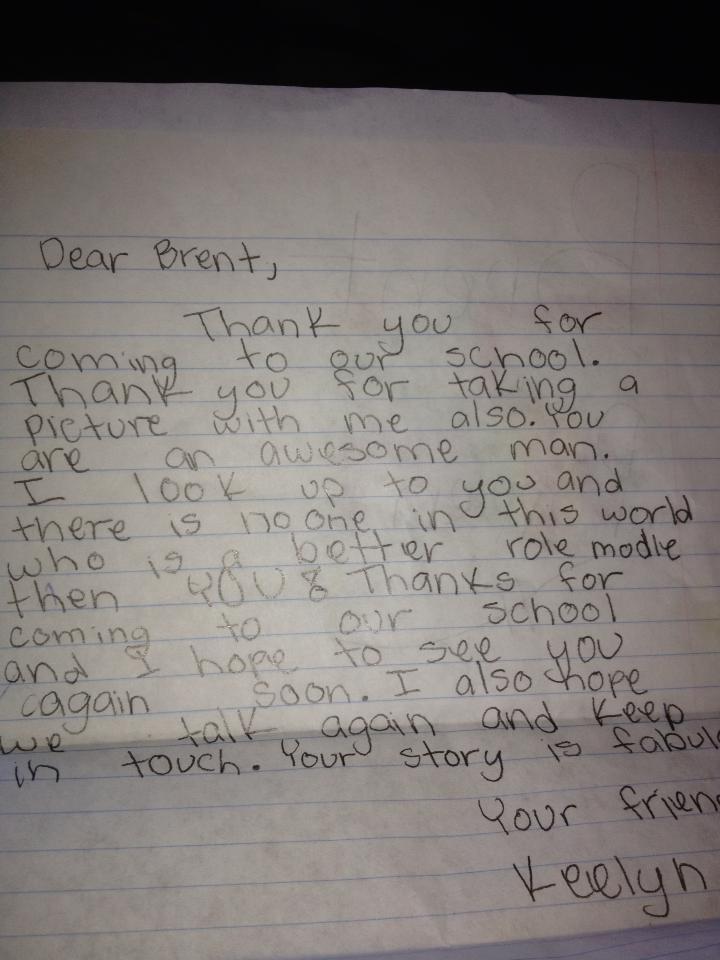 Letter from Orange County Elementary School