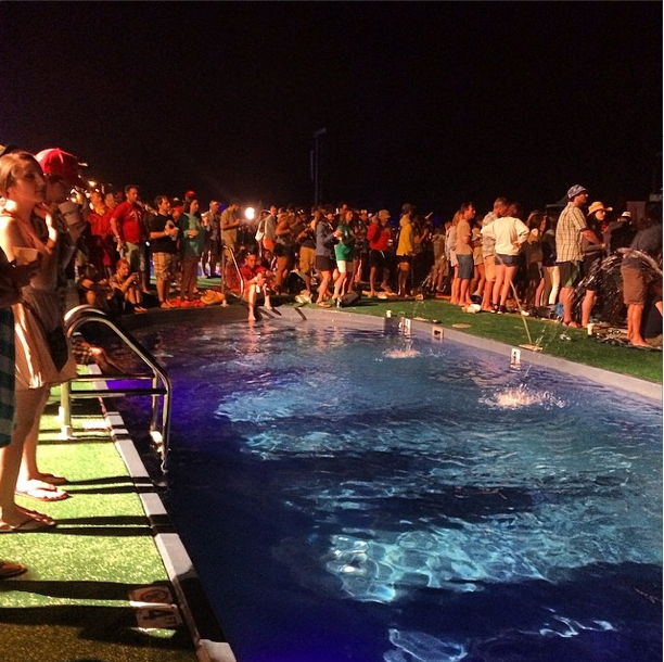 The VIP Pool area where we watched the Black Keys (about 100 yards stage left of the main stage)