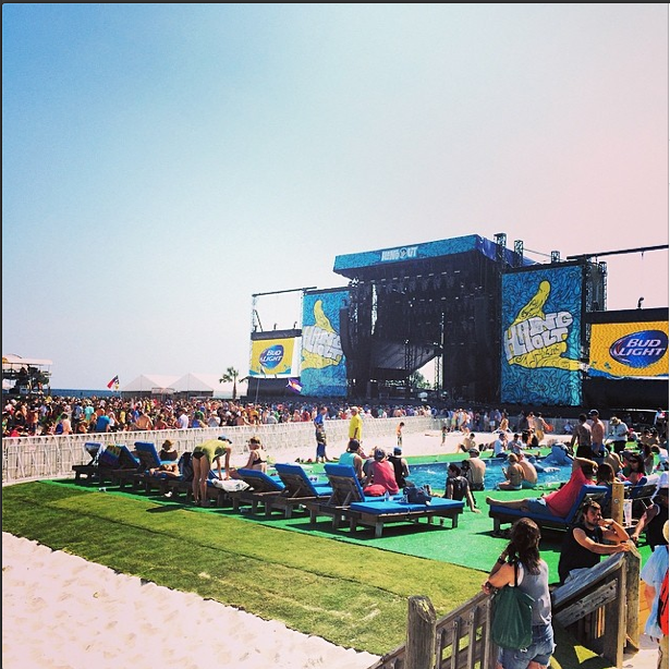 View of the Main Stage from the VIP area