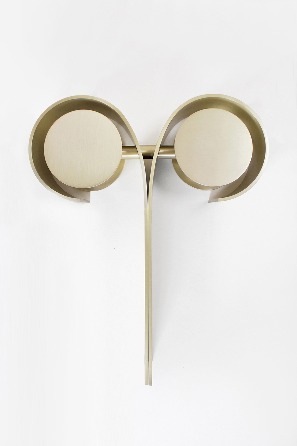 KHNUM SCONCE, 2015 BRUSHED BRASS  PDF  -  INQUIRE  +  MORE
