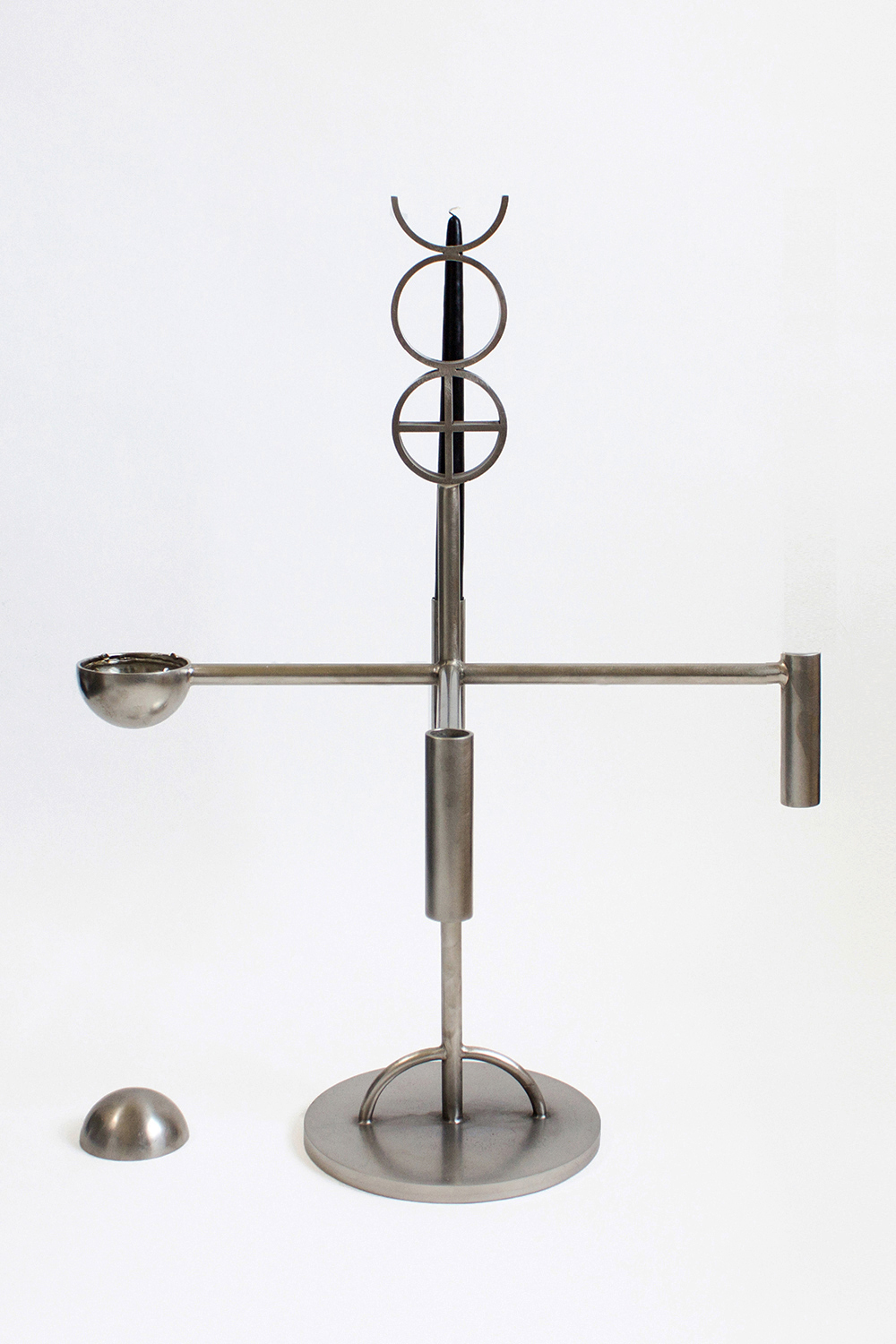 ALCHEMY ALTAR CANDELABRA, 2014 BRUSHED STEEL  PDF  -  INQUIRE  +  MORE