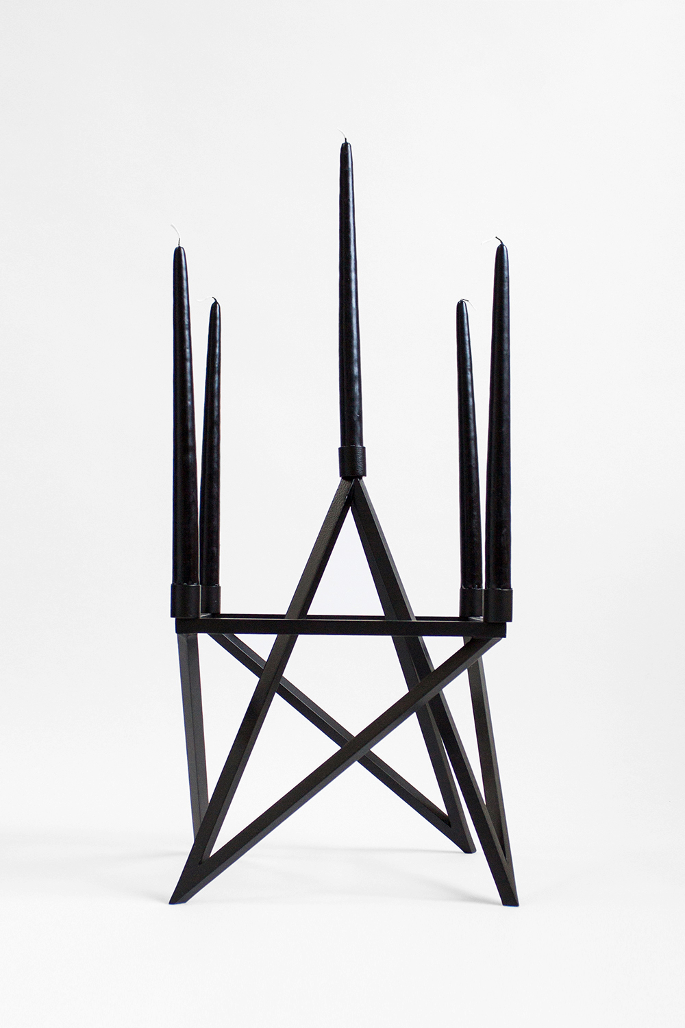 PAGAN CANDELABRA, 2014 BLACK POWDER COATED STEEL  PDF  -  INQUIRE  +  MORE