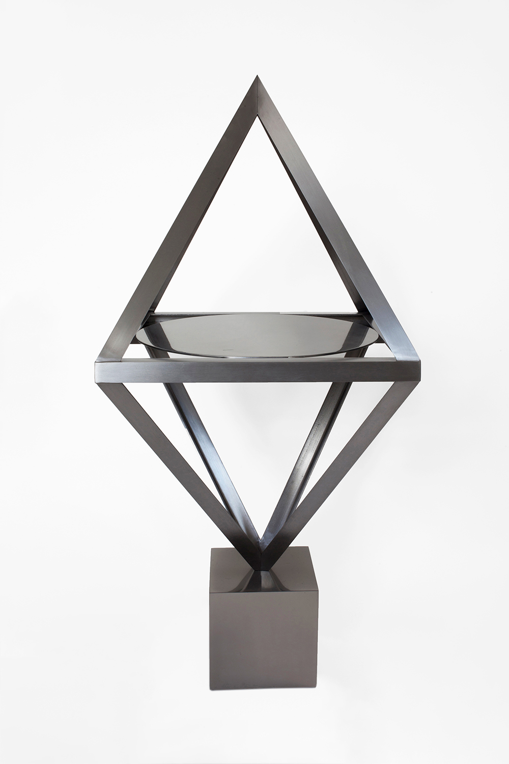 ALCHEMY TABLE, 2014 BRUSHED AND POLISHED STEEL  PDF  -  INQUIRE  +  MORE